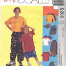 McCALL'S 9206 DATED 1998 CHILDREN'S SHIRT, T-SHIRT, PANTS OR SHORTS AND HAT SZ 4,5,6 UNCUT