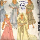 McCALL's 7894 DATED 1972 FOR A MISSES' BRIDE AND BRIDESMAID GOWNS SZ 6