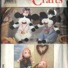"SIMPLICITY 9228 PATTERN CRAFTS BOY & GIRL COW 13"",  BOY & GIRL PIG 13.5"""
