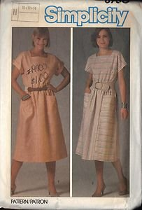 SIMPLICITY 6750 PATTERN MISSES' PULLOVER DRESS OR COVERUP SZ 12