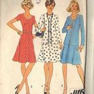 SIMPLICITY 6749 SZ 16 MISSES UNLINED CARDIGAN AND DRESS PATTERN 1974
