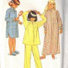 SIMPLICITY 6659 PATTERN dated 1984, NIGHTGOWN,2 LENGTHS, PAJAMAS SM SZ 7