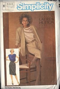 SIMPLICITY 6645 PATTERN DATED 1984 SKIRT, JACKET & TOP SIZE 10 & 12