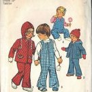 Simplicity 6636 Pattern Toddlers' Bell Bottom Overalls, Hooded Jacket SZ 1/2