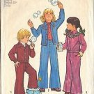 SIMPLICITY 6533 PATTERN  1974 CHILD'S UNLINED JACKET, BELL BOTTOM PANTS  SIZE 4