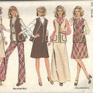 SIMPLICITY 6525 MISSES JUMPER, VEST AND PANTS PATTERN 1998 SZ 18/20