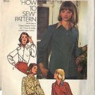 Simplicity 6517 Pattern Misses' blouse in size 16, dated 1974