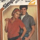 Simplicity 6512 Pattern for a misses' shirt size 16, dated 1984