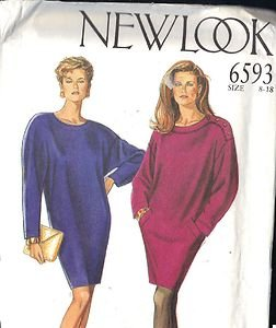 New Look Pattern 6593 great looking dress or cover-up sizes 8-18 UNCUT, UNUSED