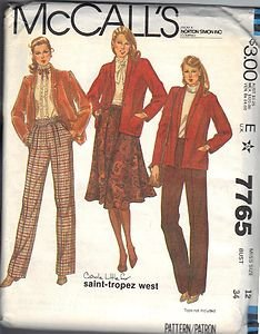McCall's pattern 7765 dated 1981 Misses' JACKET, SKIRT, PANTS SZ 12