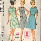 McCall's pattern 7731, dated 1965, for a Misses' Dress 3 Variations Size 12
