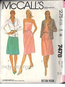 McCall's Pattern 7478 dated 1981 Misses� Jacket, Dress, Belt size 12