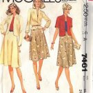 McCall's Pattern 7461 dated 1981 Misses' Jacket or Blazer and Skirt size 12
