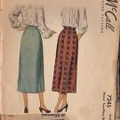 McCalls Pattern 7245 dated 1948 for a skirt waist size 23""