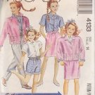 McCALL'S PATTERN 4133 GIRLS' JACKET, SHIRT, SKIRT, PANTS, SHORTS SIZE 14 UNCUT
