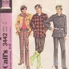 McCALL'S PATTERN 3442 DATED 1972 FOR A MEN'S LEISURE SUIT SIZE 40