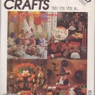 McCALL'S PATTERN 3367 DATED 1987 FOR HOLIDAY TABLE DECORATIONS