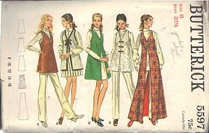 BUTTERICK PATTERN 5597 MISSES' VEST IN 5 VARIATIONS AND 3 LENGTHS SIZE 8 UNCUT