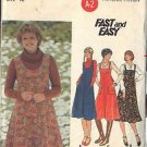 BUTTERICK PATTERN 5546 MISSES' JUMPER IN FOUR VARIATIONS SZ 12