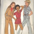 BUTTERICK PATTERN 5511 FOR GIRLS' JUMPSUIT IN 3 VARIATIONS IN SIZE 12 UNCUT