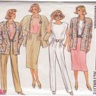 BUTTERICK 1987 PATTERN 3633 SIZE 8 MISSES' JACKET, SKIRT, PANTS AND TOP