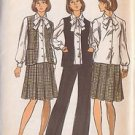 BUTTERICK PATTERN 3562 MISSES' VEST, SKIRT, PANTS, BLOUSE, TIE SIZE 12 UNCUT