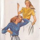 BUTTERICK PATTERN 3337 SIZE 12 MISSES' BLOUSE IN 2 VARIATIONS UNCUT