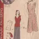 HOLLYWOOD PATTERN 583 MISSES' JERKIN, SKIRT, HAT  SIZE 16 NAN GREY