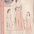 HOLLYWOOD PATTERN 564 MISSES' SLIP IN 2 VARIATIONS SIZE 16, ROSEMARY LANE