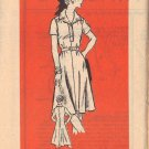 VINTAGE PATTERN 4707, DATED 1975, MISSES' DRESS SIZE 16 1/2