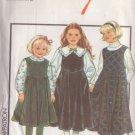 STYLE PATTERN 1434 GIRL'S PINAFORE 2 LENGTHS, BLOUSES 2 VARIATIONS SIZE 3