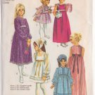 SIMPLICITY PATTERN 9133 GIRLS' DRESS IN 3 LENGTHS, SCARF SIZE 4