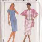 SIMPLICITY PATTERN 9098 MISSES' DRESS IN TWO LENGTHS, JACKET SIZES 6, 8, 10, 12