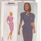 SIMPLICITY PATTERN 9090 MISSES' DRESS IN TWO VARIATIONS SIZES 8, 10, 12 UNCUT