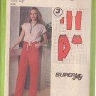 SIMPLICITY PATTERN 9030 MISSES' SUPER JIFFY PANTS OR SHORTS SIZE 12