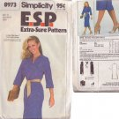 SIMPLICITY PATTERN 8973 MISSES' DRESS SIZES 12-14-16