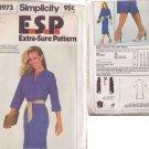 SIMPLICITY PATTERN 8973 MISSES' DRESS SIZE 10