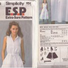 SIMPLICITY PATTERN 8972 MISSES' DRESS AND SASH SIZES 8-10-12