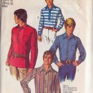 SIMPLICITY PATTERN 8950 MEN'S SHIRT IN 3 VARIATIONS SIZE 42