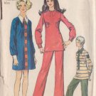 SIMPLICITY PATTERN 8928 MISSES' MINI DRESS, TUNIC, PANTS IN 3 VARIATIONS SIZE 12