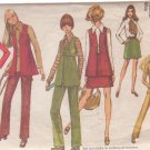 SIMPLICITY PATTERN 8924 MISSES' VEST, MINI-SKIRT, BLOUSE, PANTS SIZE 14