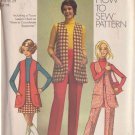 SIMPLICITY PATTERN 8917 MISSES' VEST, MINI-SKIRT, PANTS SIZE 16