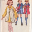 SIMPLICITY PATTERN 8900 GIRL'S CHUBBIE DRESS AND VEST SIZE 14 1/2C