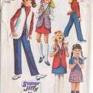 SIMPLICITY PATTERN 8897 GIRLS' SKIRT, PANTS AND REVERSIBLE VEST SIZE 6