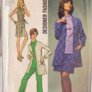 SIMPLICITY PATTERN 8870 MISSES' OVERBLOUSE, MINI SKIRT, PANTS, JACKET SIZE 14