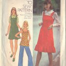 SIMPLICITY PATTERN 7074, DATED 1975 MISSES' JUMPER 2 LENGTHS OR TOP SZ 9/10