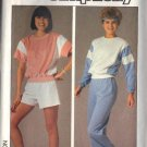 SIMPLICITY PATTERN 6906, DATED 1985 MISSES EASY PULLOVER TOP, PANTS,SHORTS SZ SM
