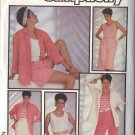 SIMPLICITY PATTERN 6886, DATED 1985, MISSE'S TOP,JACKET,PANTS,SHORTS,SKIRT