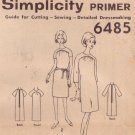 SIMPLICITY PATTERN 6485 FOR A MISSES' DRESS IN 2 VARIATIONS SIZE 14