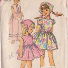 SIMPLICITY PATTERN 6474 CHILD'S 1-PIECE DRESS 2 LENGTHS, SCARF SIZE 6